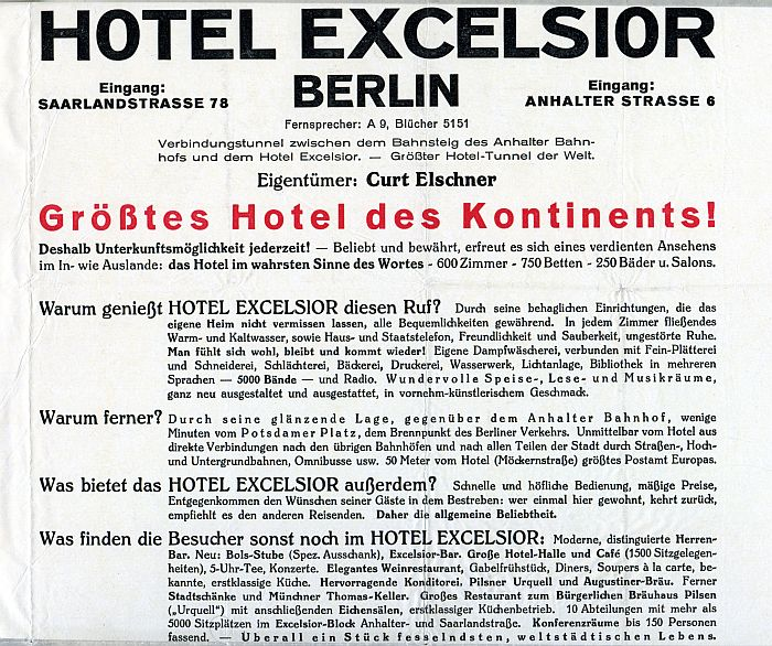 berlin excelsior hotel
